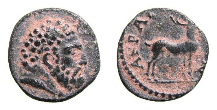 AE17 de Aigai, Aeolis. AIΓAEΩN. con contramarca de un águila Lydia_Akrasos_AE14_2_07g