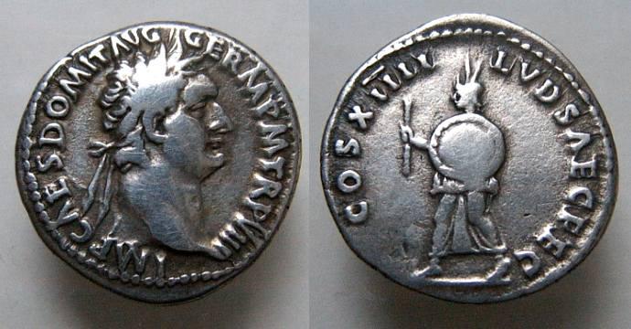 Identification d'une Monnaie romaine Galba  Domitian-RIC596
