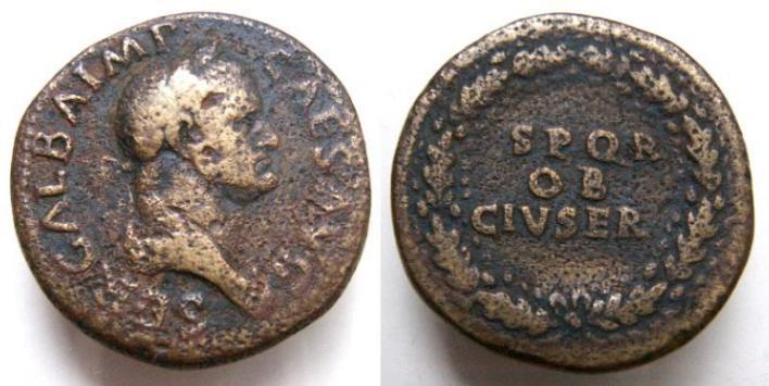 Identification d'une Monnaie romaine Galba  Galba_RIC267