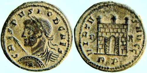 Reproducción de AE3 de Constantino I. VIRTVS AVGG. Roma 7rom-183_cri