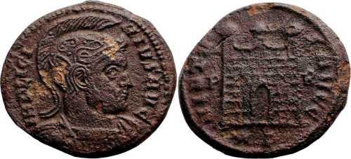 Reproducción de AE3 de Constantino I. VIRTVS AVGG. Roma 7rom169_p