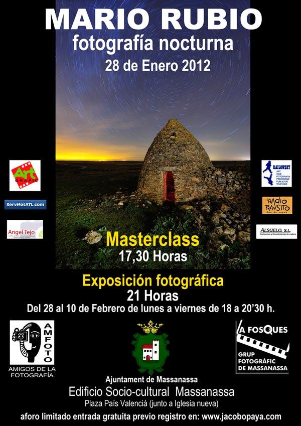 MASTERCLASS FOT. NOCTURNA, MASSANASSA 28 ENERO 17:30 CARTEL-MASTERCLASS-MARIO-RUBIO