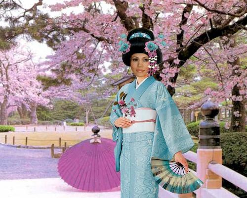 El abanico todo un arte - Página 2 Fotomontaje_como_mujer_japonesa_abanicos_sombrillas_en_tokio
