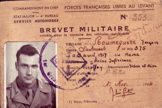 Jacques ROUMEGERE, Forces Françaises Libres 21597livor