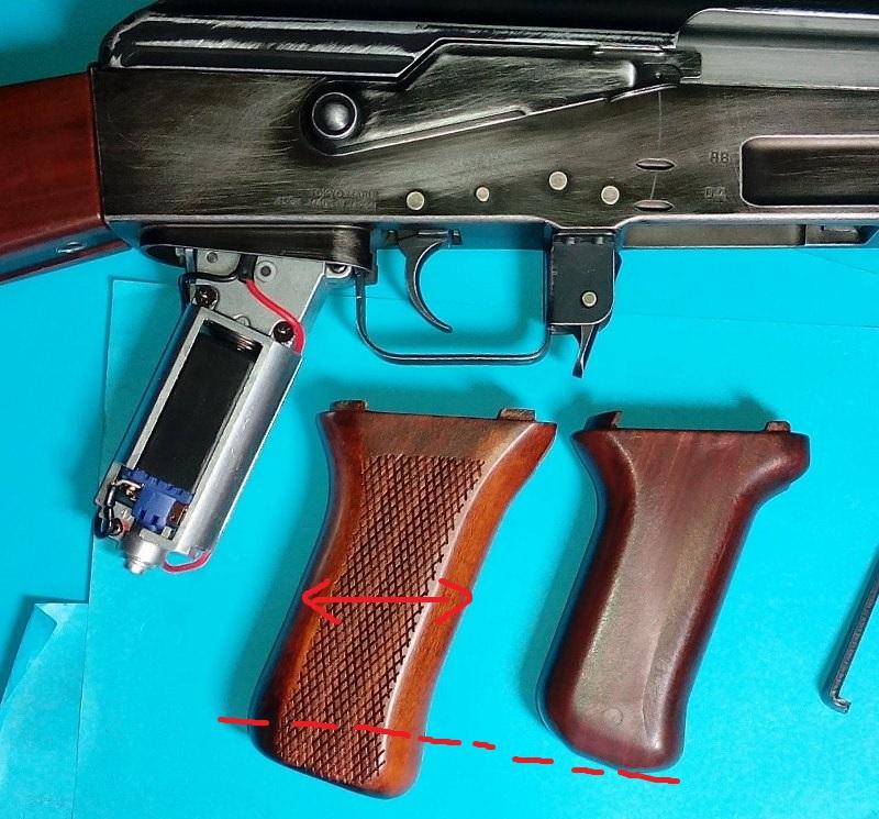 AK47 Type 3 marui - customisation avec du vrai bois d'arbres Gallery_22386_489_38032