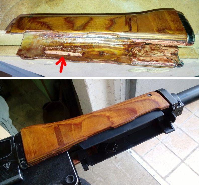 AK47 Type 3 marui - customisation avec du vrai bois d'arbres Gallery_22386_514_112206