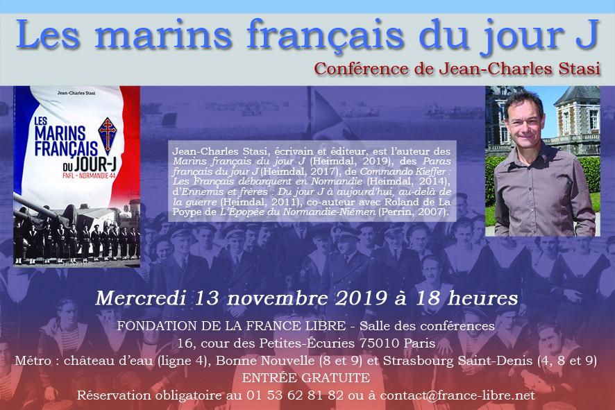 [CONFÉRENCE] Les marins français du jour J Flyer-131119web