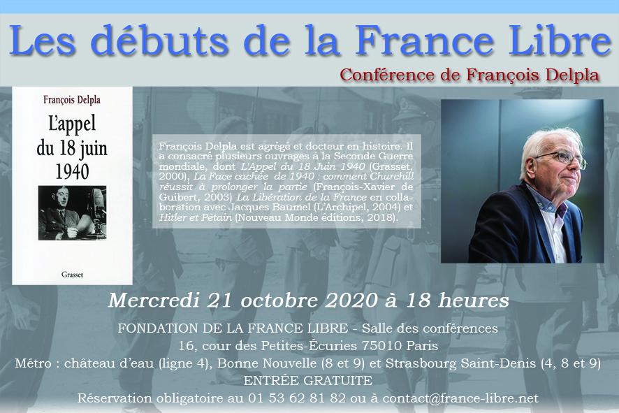 [CONFÉRENCE] Les débuts de la France Libre Flyer-211020-web-1