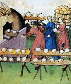 représentation de boulanger / pain / four / vendeurs de pains 55