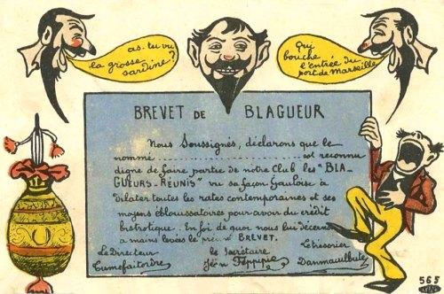 LES ANECDOTES  HISTORIQUES,  DROLES OU ENCORE INSOLITES - Page 5 Blagueur