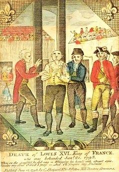 LES ANECDOTES  HISTORIQUES,  DROLES OU ENCORE INSOLITES - Page 31 Execution_Louis_XVI_2-3