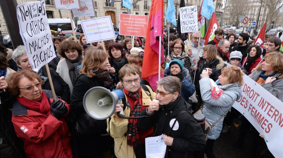 VIDEO. IVG : manifestation à Paris contre le projet de loi espagnol 3118286