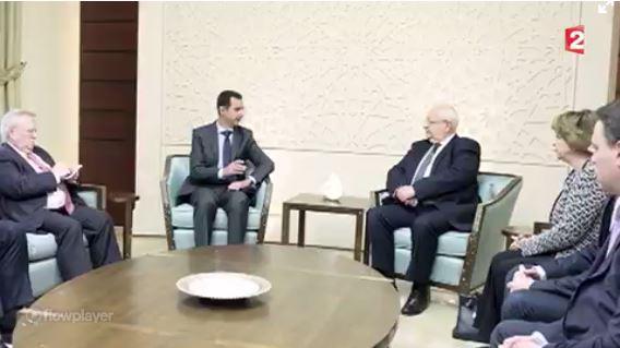 Des francais (parlementaires) recu par Bachar El Assad 5677561