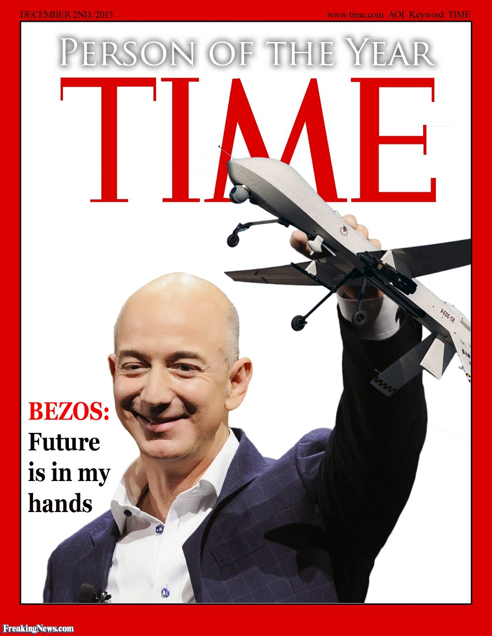 Jeff Bezos Hand Print. CURRENTLY RICHEST MAN IN THE WORLD.  Jeff-Bezos-with-a-Drone-113713