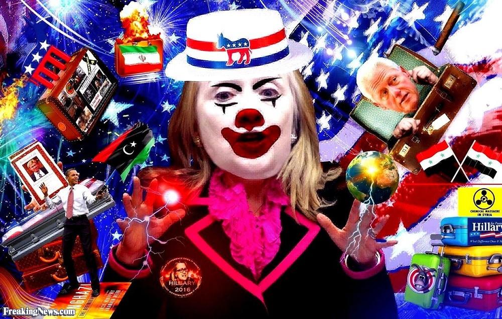 Political Clown Show  Hillary-Clinton-the-Clown-s-Political-Baggage-114794
