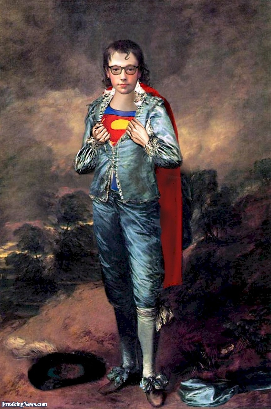 The United States of the Solar System, A.D. 2133 (Book Five) - Page 9 Blue-Boy-Superman-Painting-20687