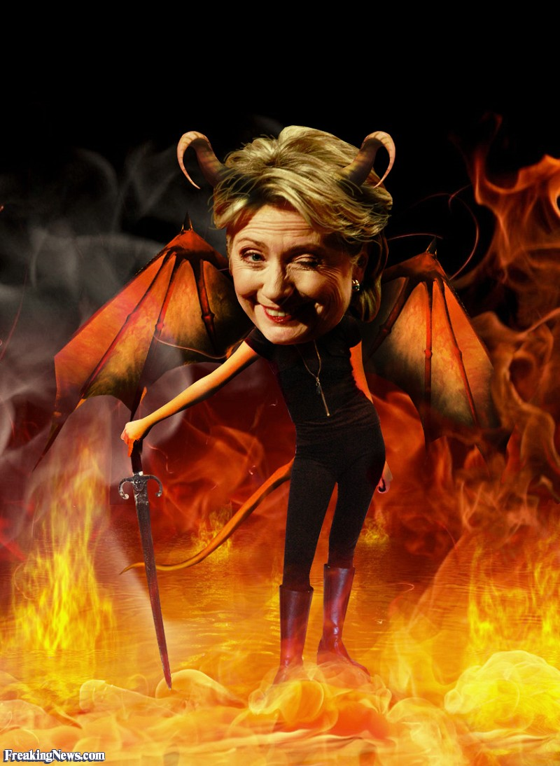 2016 election: who will you vote for? - Page 2 Hot-Hillary-Clinton-Devil--85554