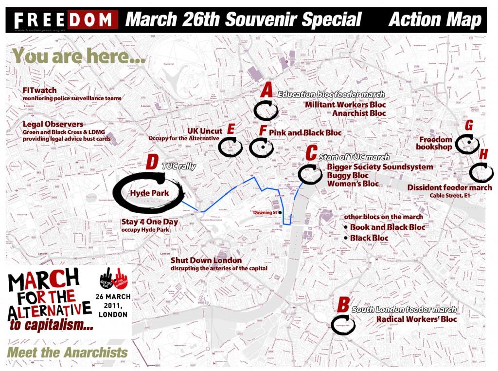 26 mars à Londres contre l'austérité, le jour où tout pourrait basculer Freedom-Action-Map-March-26th-1024x762