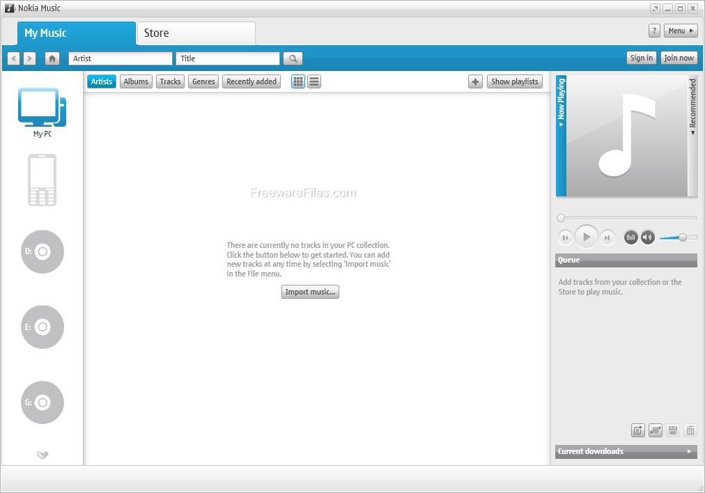 برنامج نوكيا Nokia Music 1.3 لتنظيم ملفات الموسيقى على الجوال والحاسوب Nokiamusic