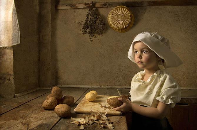 Фотопортреты дочери в стиле живописи 18-го века 1