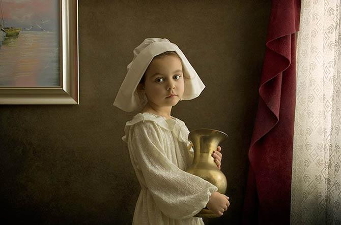 Фотопортреты дочери в стиле живописи 18-го века 10