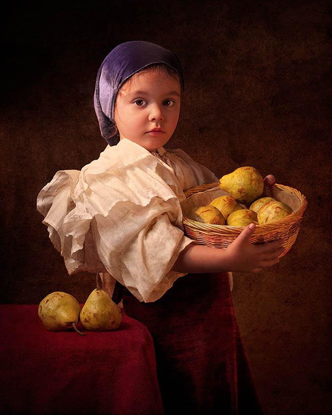 Фотопортреты дочери в стиле живописи 18-го века 2