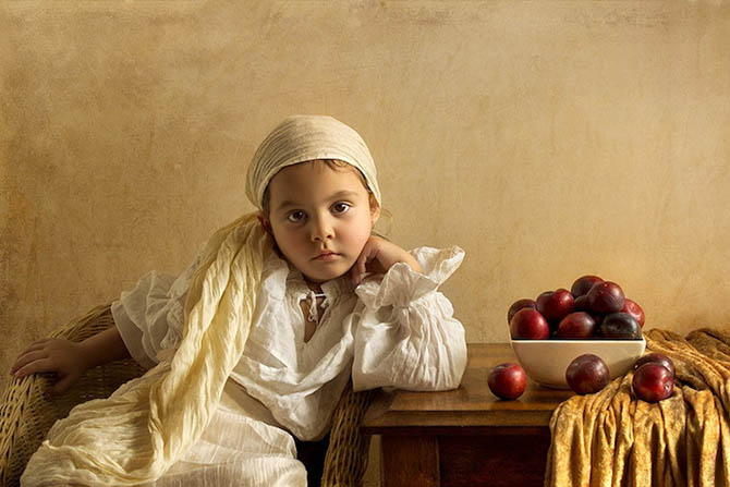 Фотопортреты дочери в стиле живописи 18-го века 3
