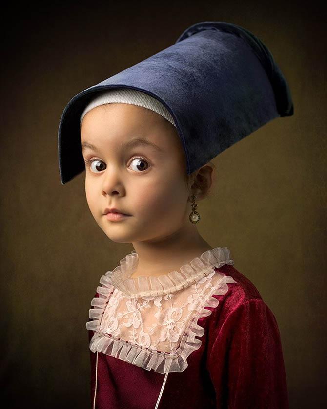 Фотопортреты дочери в стиле живописи 18-го века 5