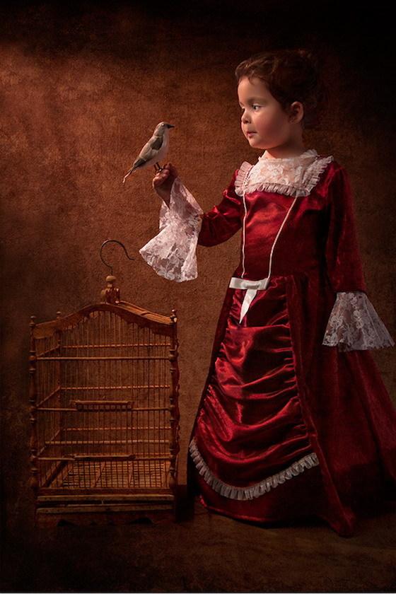 Фотопортреты дочери в стиле живописи 18-го века 6