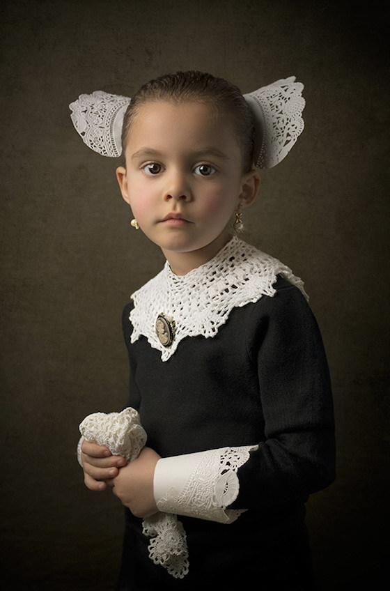 Фотопортреты дочери в стиле живописи 18-го века 7