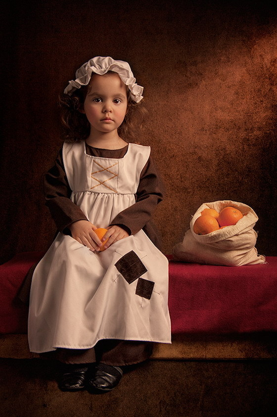 Фотопортреты дочери в стиле живописи 18-го века 9