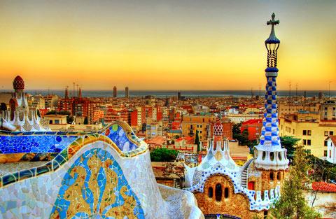 Muéstranos tu Ciudad/Pueblo o País Barcelona_parc_guell_sunset