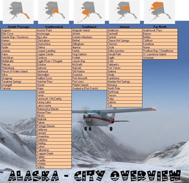 ALASKA - die Heimat unserer Airline Alaska_citys