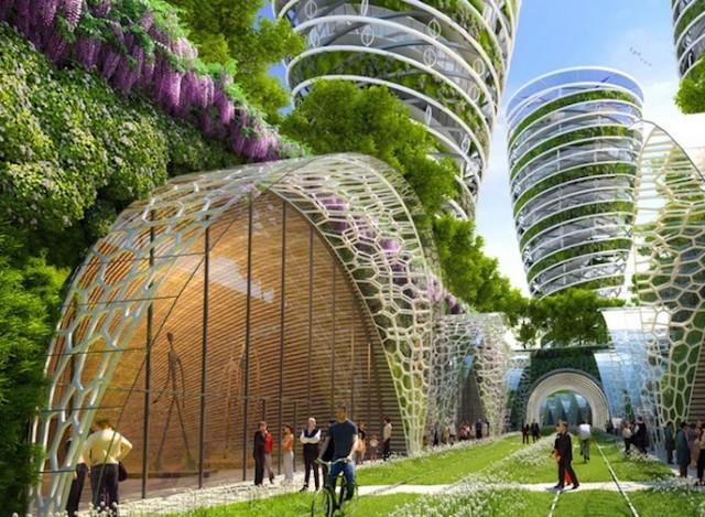 Les architectures insolites Paris-of-2050-Architecture_5-640x469