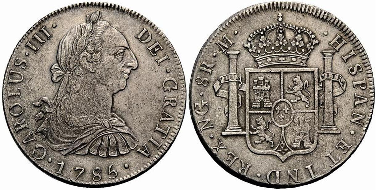 1777 Guatemala 8 reales. Carlos III 1785-8reales-guatemala-carlos3-2500