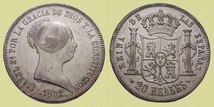 20 REALES ISABEL II. 1852 ¿AUTENTICA O FALSA? 1852-20reales-sevilla-18-52