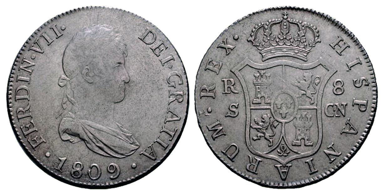 Fernando VII 1809 - Muchas papeletas para ser falsa  80-1809-8reales-sevilla