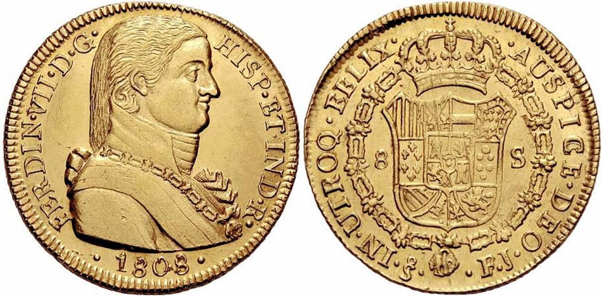 Alfonso XIII a través de sus monedas 1808-8escudos-santiago-fernando7-3000