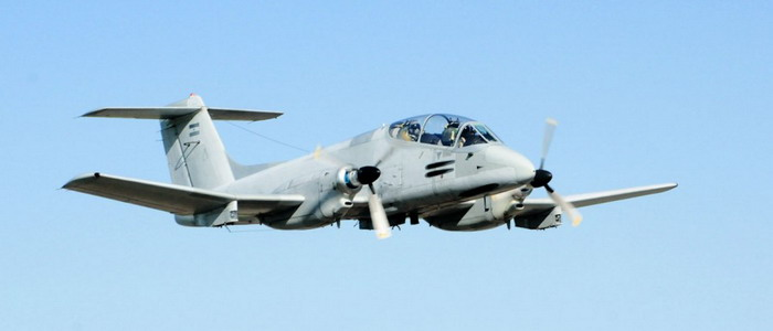 El IA 58 pucara vuela como modelo H Picara-avionar