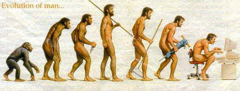 Les images du jour Evolutionofman