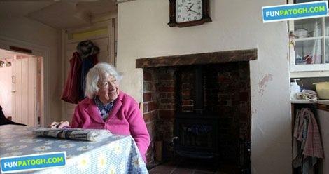 این زن 100 ساله همه عمرش را در خانه ای سپری كرد! 13275045652