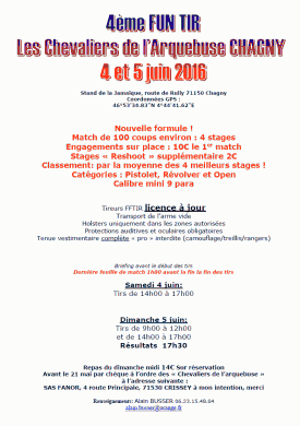 [FRA] 4ème fun tir de Chagny (71) - 4 et 5 juin 2016 201606_4eme_Funtir_Chagny