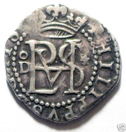 1/2 Real de Felipe II (Lima, 1577 a 1588) 1-2-Real-Lima-Felipe-II-A