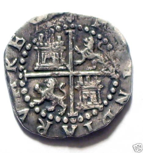 1/2 Real de Felipe II (Lima, 1577 a 1588) 1-2-Real-Lima-Felipe-II-B