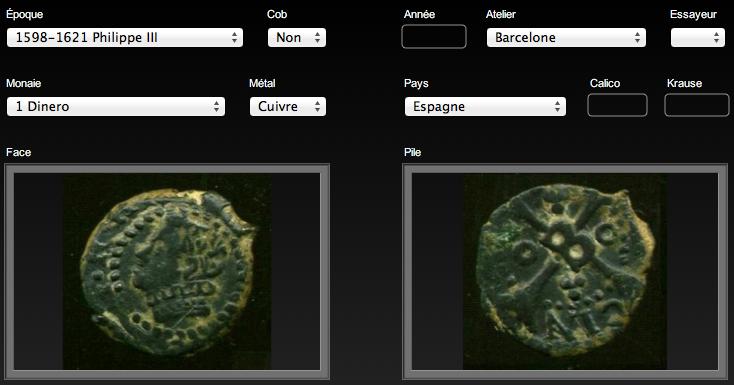 Dinero (menut) de Felipe III (c.1600) de Barcelona 1D-F3-Barcelona-1
