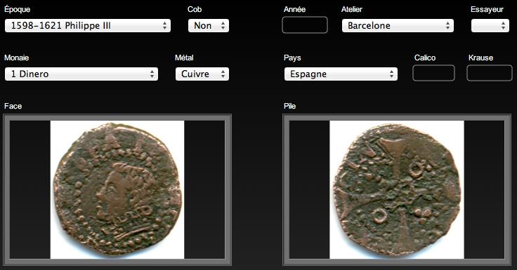 Dinero (menut) de Felipe III (c.1600) de Barcelona 1D-F3-Barcelona-2