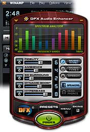 برنامج DFX Audio Enhancer9.301 لتحسين الصوت وإضافة مؤثرات جميلة  Scrdfx9downloadwinampbig