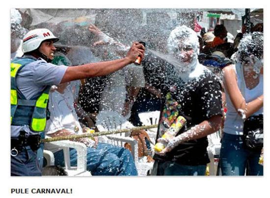 Policial que disparou spray de pimenta em jornalista vira meme Policial-04