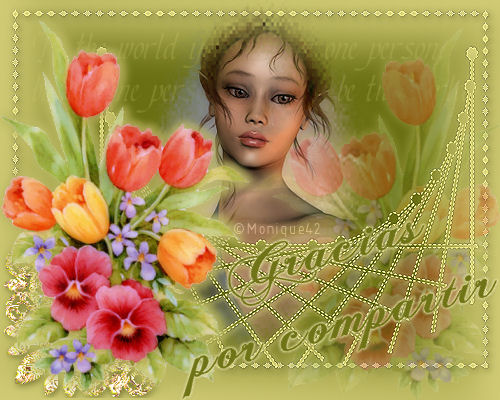 Muñeca navideña Dama_flores_gracias_compartir