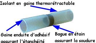 Gaine thermoretractable , ruban auto fuse... Connecteur-thermo-soudeur-etanche